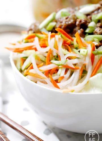 Quick pickled Vietnamese Vegetables