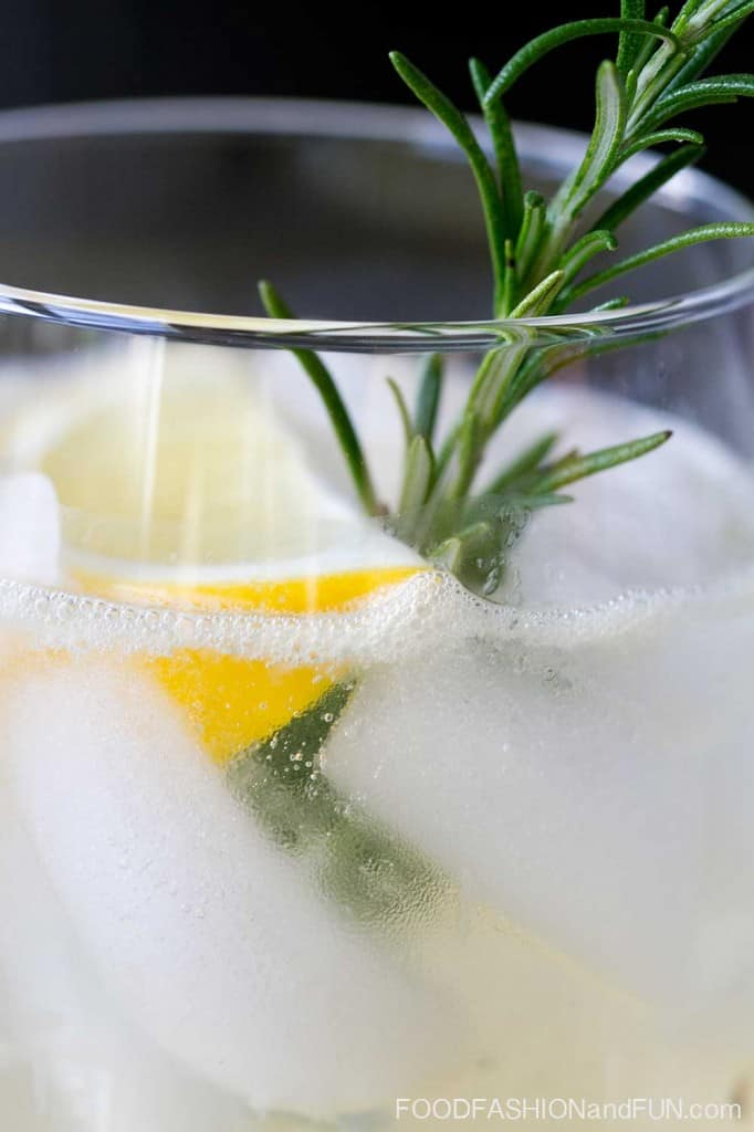 meyer lemon, rosemary, herb, cocktail, drink, vodka, alcohol,