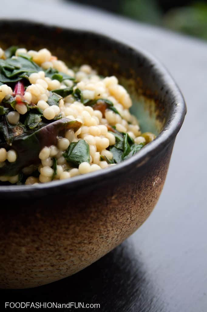 couscous, swiss chard, pasta, vegetable