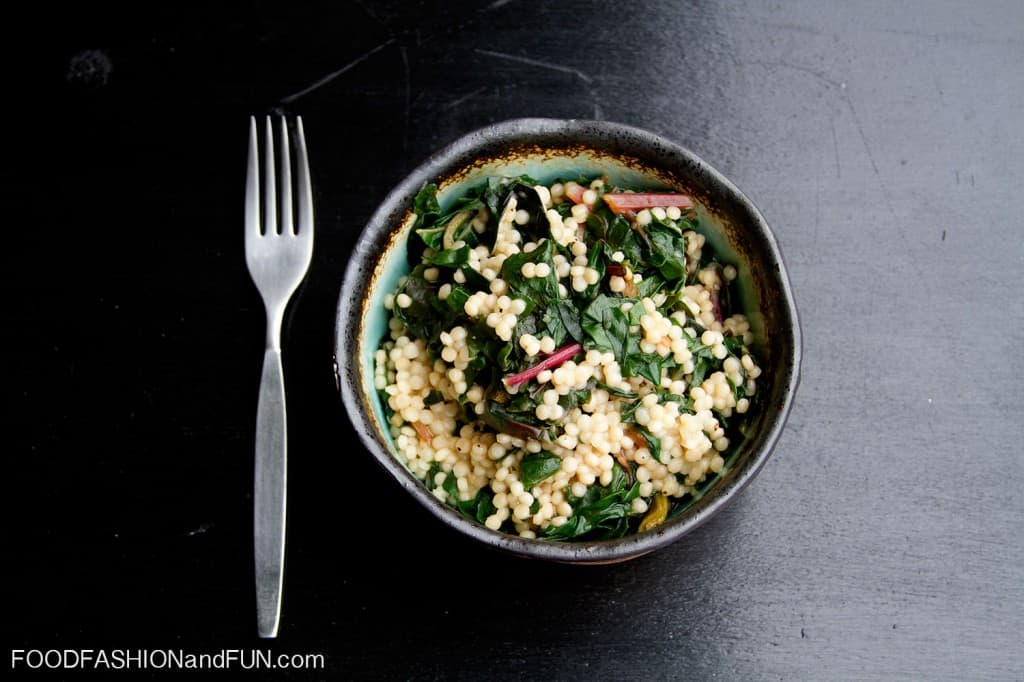 couscous, vegetable, side dish, swiss chard, pasta