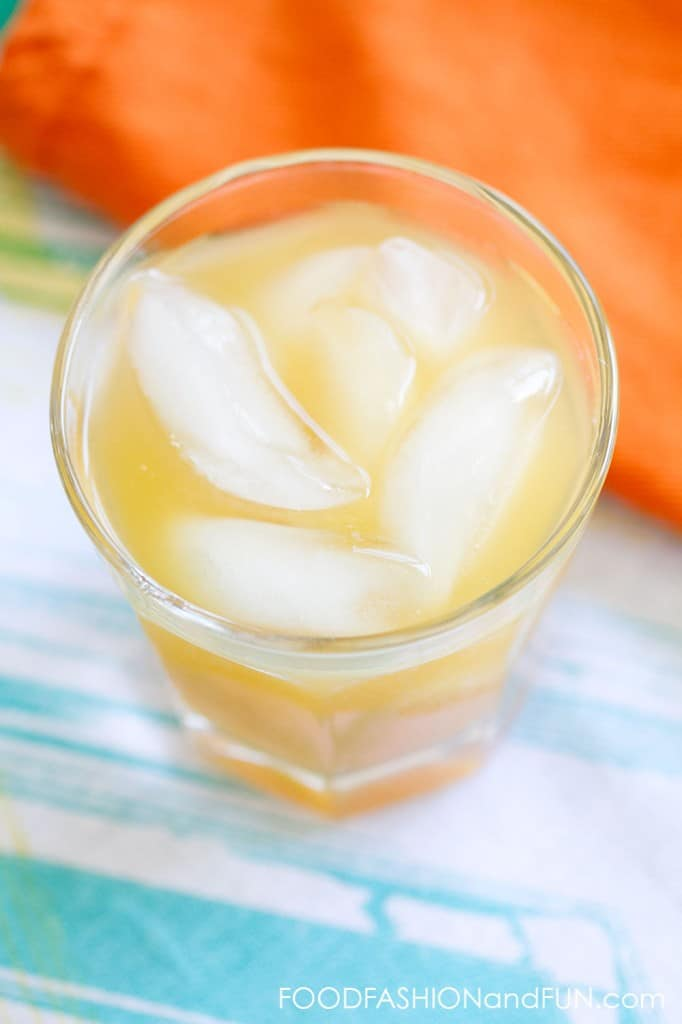 mango nectar, spiced rum, black tea, cocktail, drink