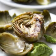 Grilled Artichokes with Artichoke Dipping Sauce
