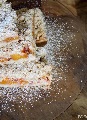 peach, shortbread, bars, dessert, foodfashionandfun, food blogger, lifestyle blogger,