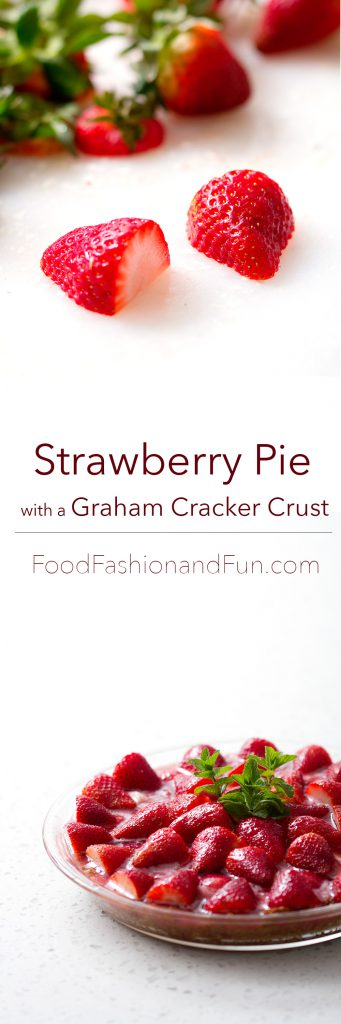 Strawberry Pie with a Graham Cracker Crust from foodfashionandfun.com