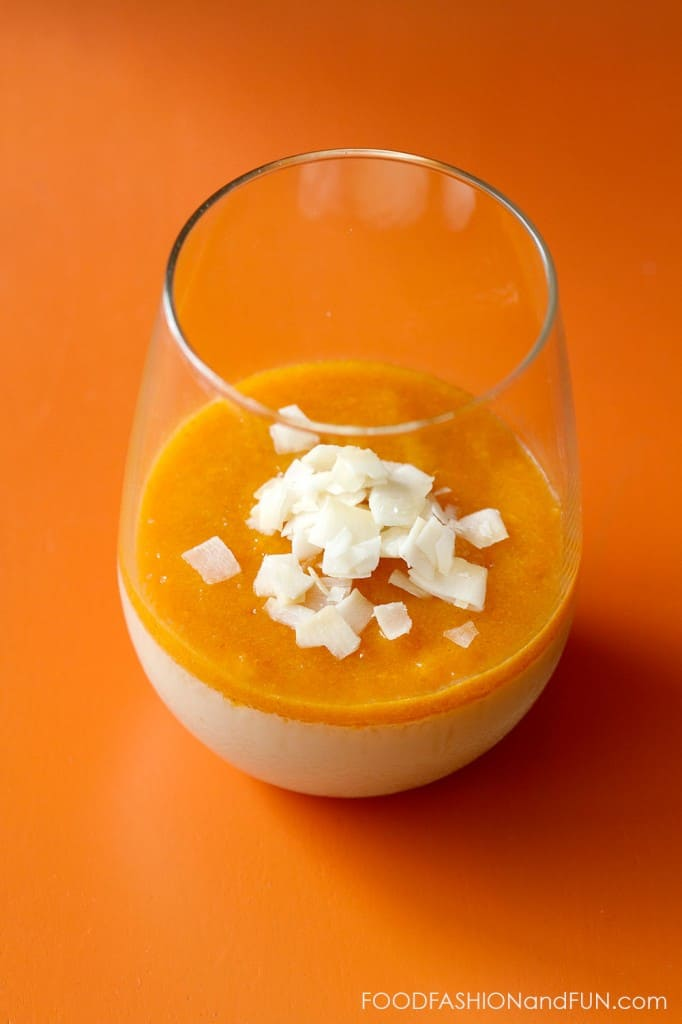 persimmon, coconut milk, panna cotta, pudding, coconut, dessert, food blogger, lifestyle blogger