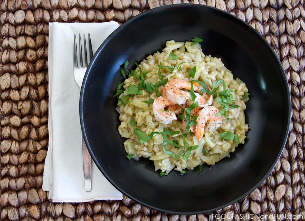 shrimp, fennel, risotto, rice, food blogger, lifestyle blogger, foodfashionandfun