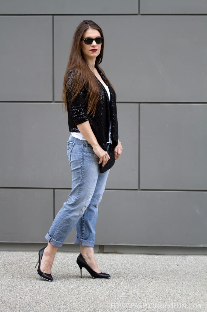 What to Wear | Silver Boyfriend Jeans Dressed Up | Food Fashion ...