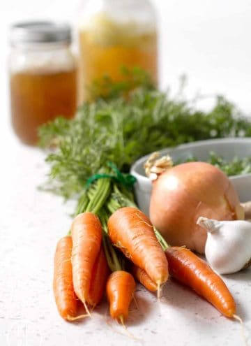 Simple but flavorful Carrot Ginger Soup that good for you. Just a few fresh ingredients create a delicious soup that tastes great. This recipe is allergy friendly (gluten, dairy, shellfish, nut, egg, and soy free) and suits the autoimmune protocol diet (AIP), paleo and vegan diets.