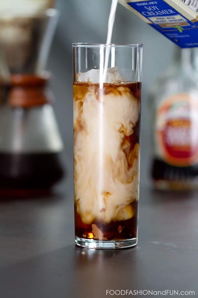 iced coffee, maple syrup, drink, coffee, foodfashionandfun, food blogger, lifestyle blogger