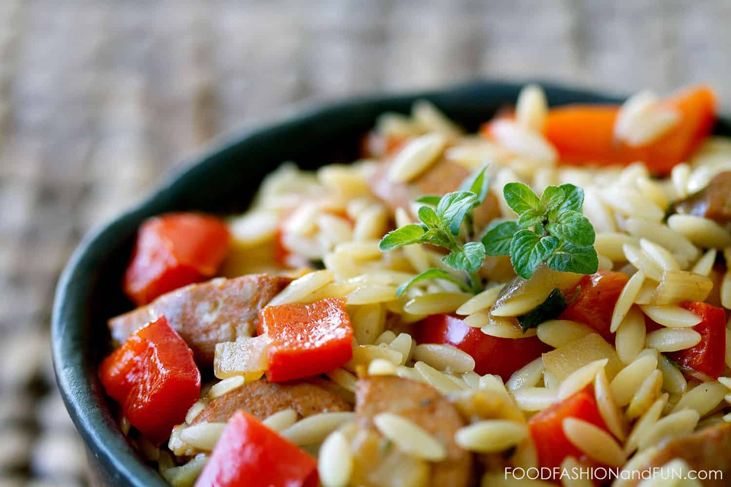 Spicy Andouille Orzo