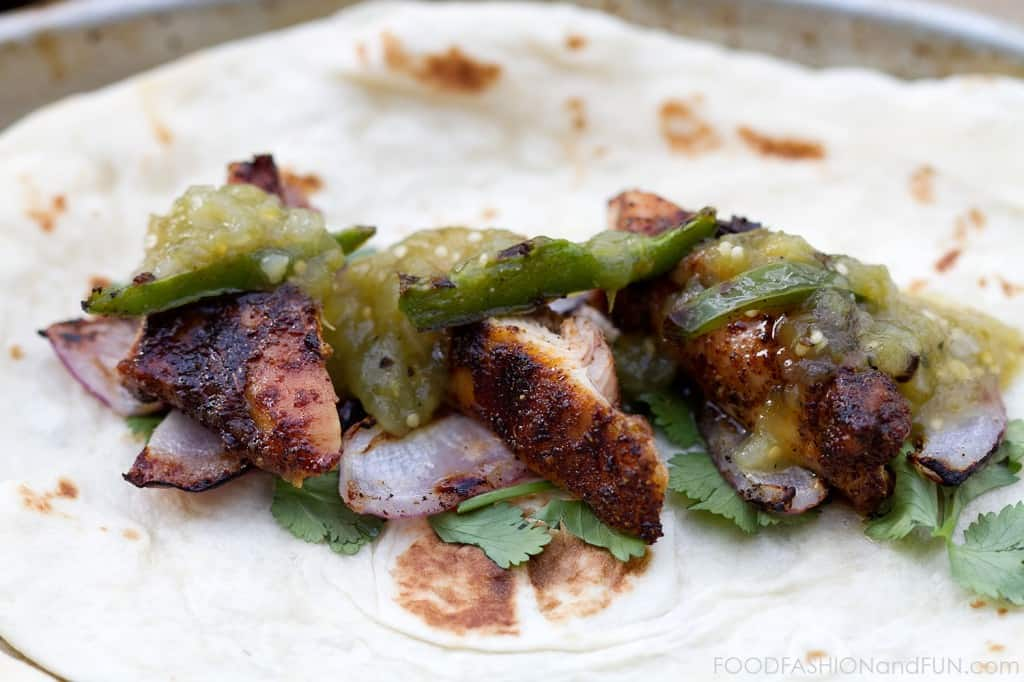 Spiced Rubbed Grilled Chicken Tacos