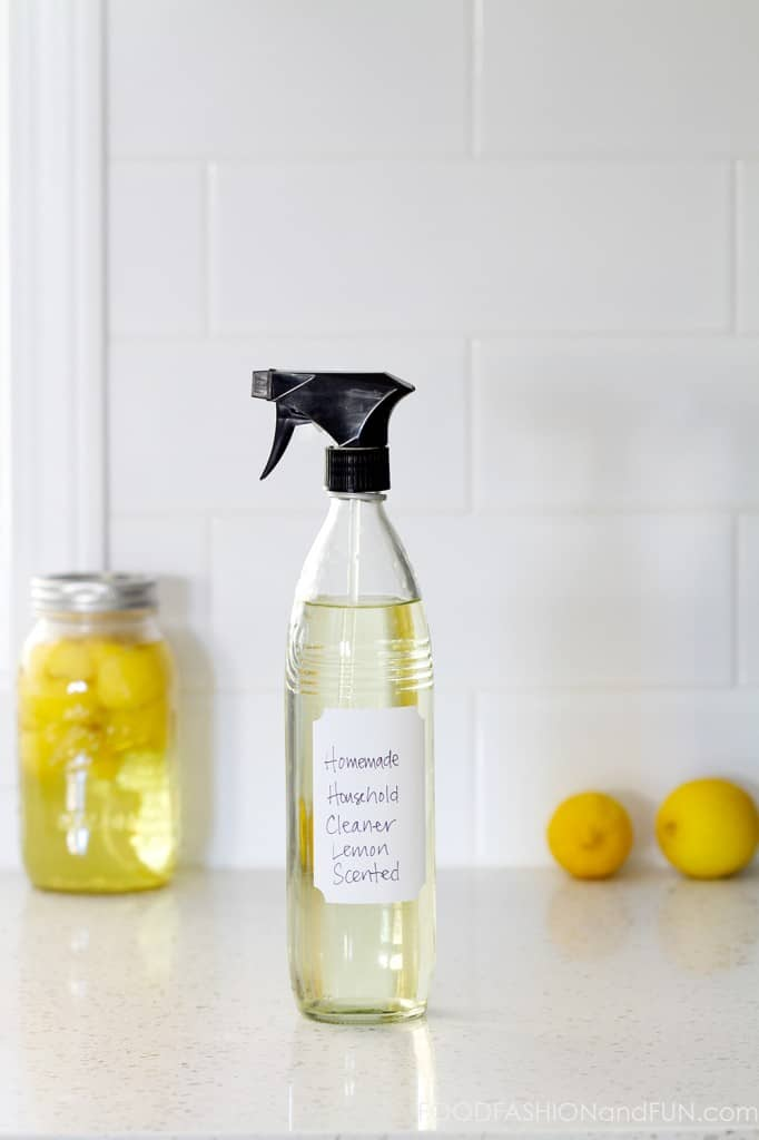 lemon vinegar, homemade household cleaner, lemons, diy, green cleaner