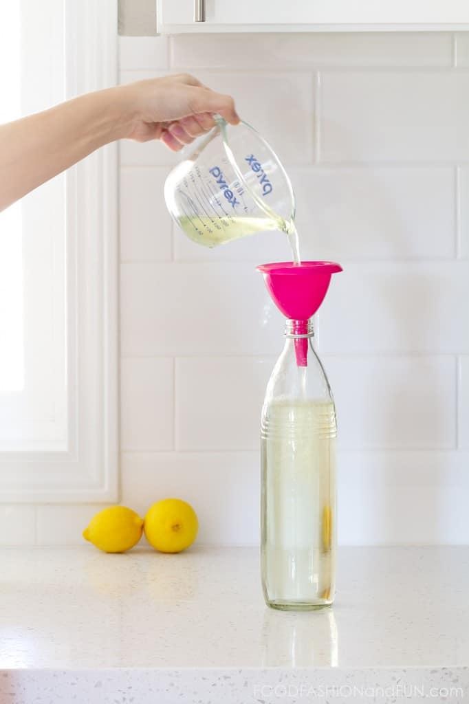 lemon vinegar, homemade household cleaner, lemons, diy, green cleaner