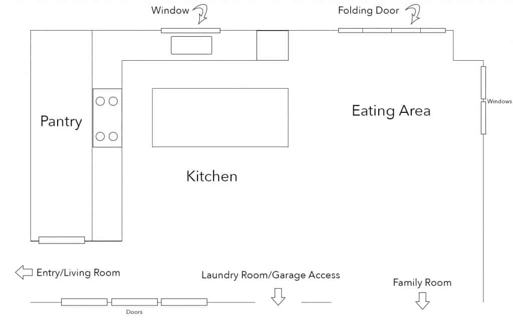 The Kitchen: Before and After layout