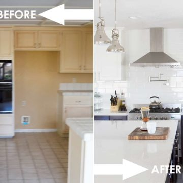 kitchen, renovation, before, after, home, kitchen