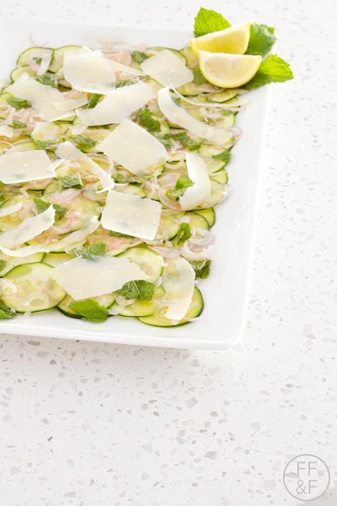 zucchini carpaccio, lemon, sunkist, recipe, food, foodfashionandfun, food blogger, lifestyle blogger
