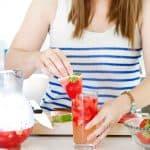 watermelon, strawberry, sangria, wine, drink, cocktail, food blogger, lifestyle blogger, foodfashionandfun