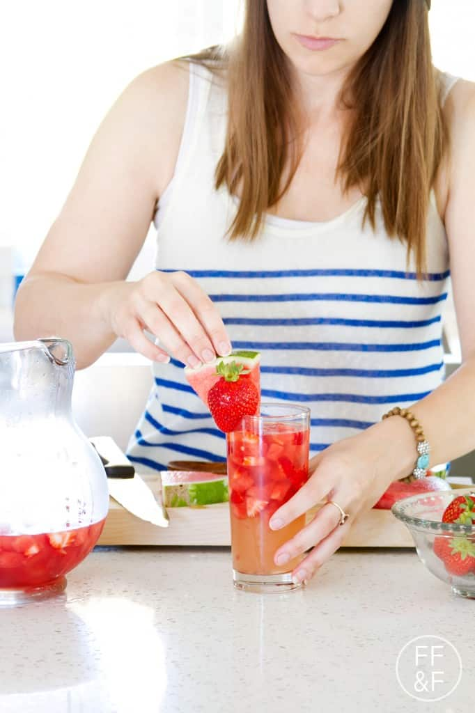 Watermelon Strawberry Sangria