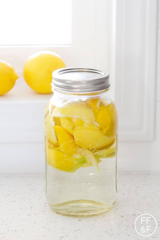 how to make lemon vinegar for cleaning