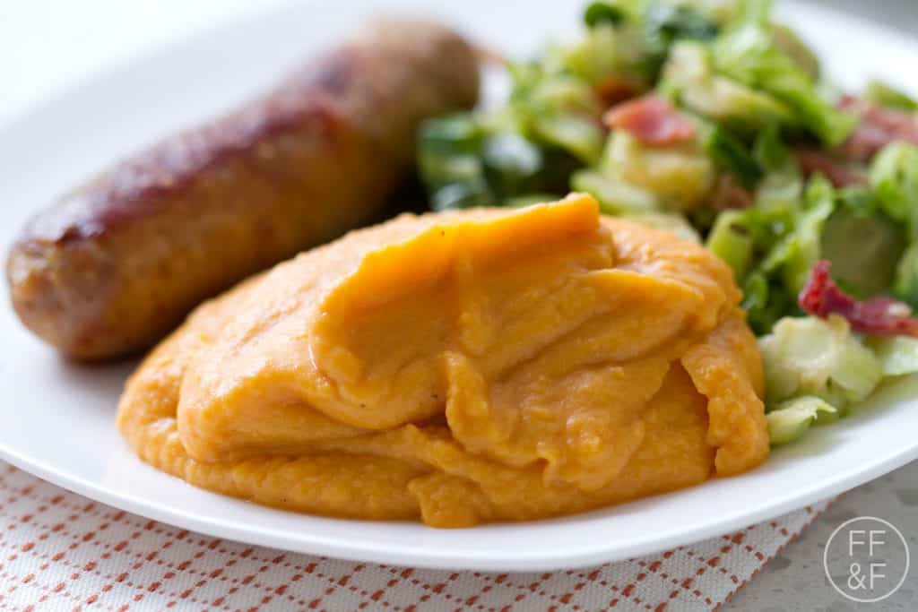 ginger, sweet potatoes, side dish, recipe, mashed potatoes, foodfashionandfun, food blog, lifestyle blog