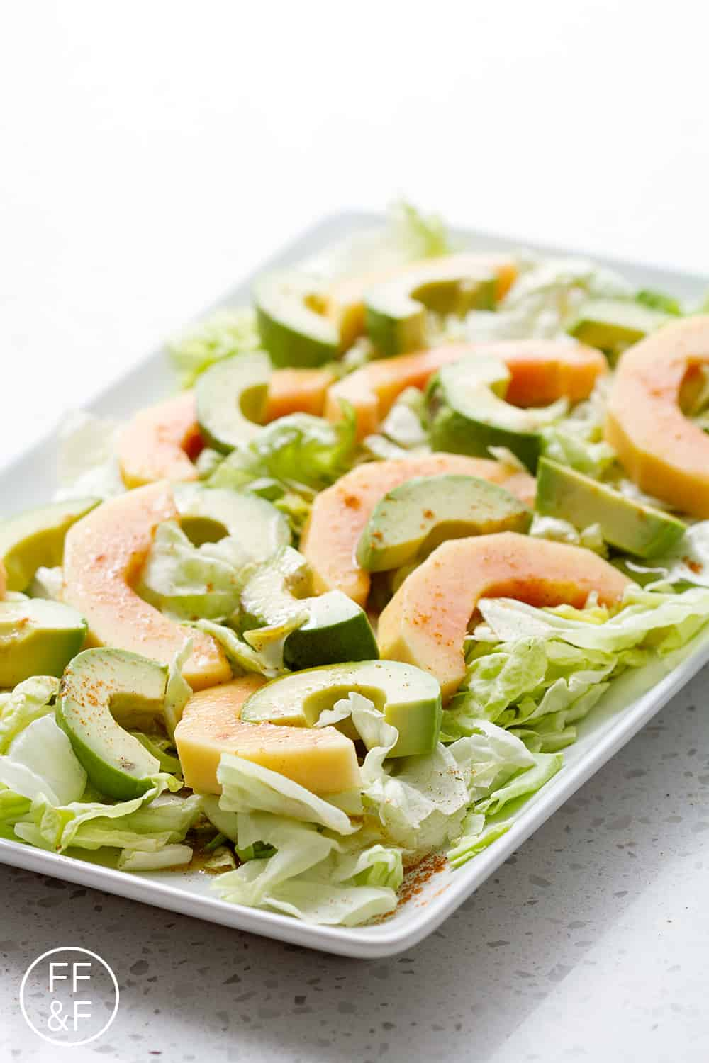 Adding a few spices to a simple salad dressing, makes this the most flavorful salad ever!