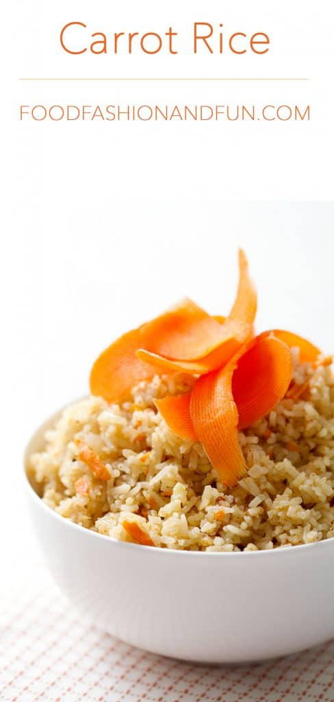Carrot Rice from foodfashionandfun.com