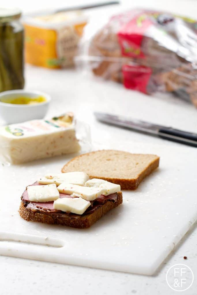 Grilled Pastrami and Cheese Sandwich from foodfashionandfun.com