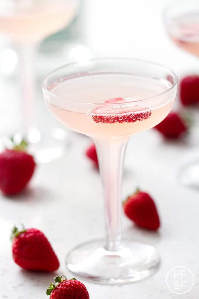Strawberry Rhubarb French 75