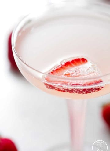 Strawberry Rhubarb French 75