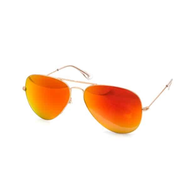 Nordstrom Orange Mirrored Sunglasses