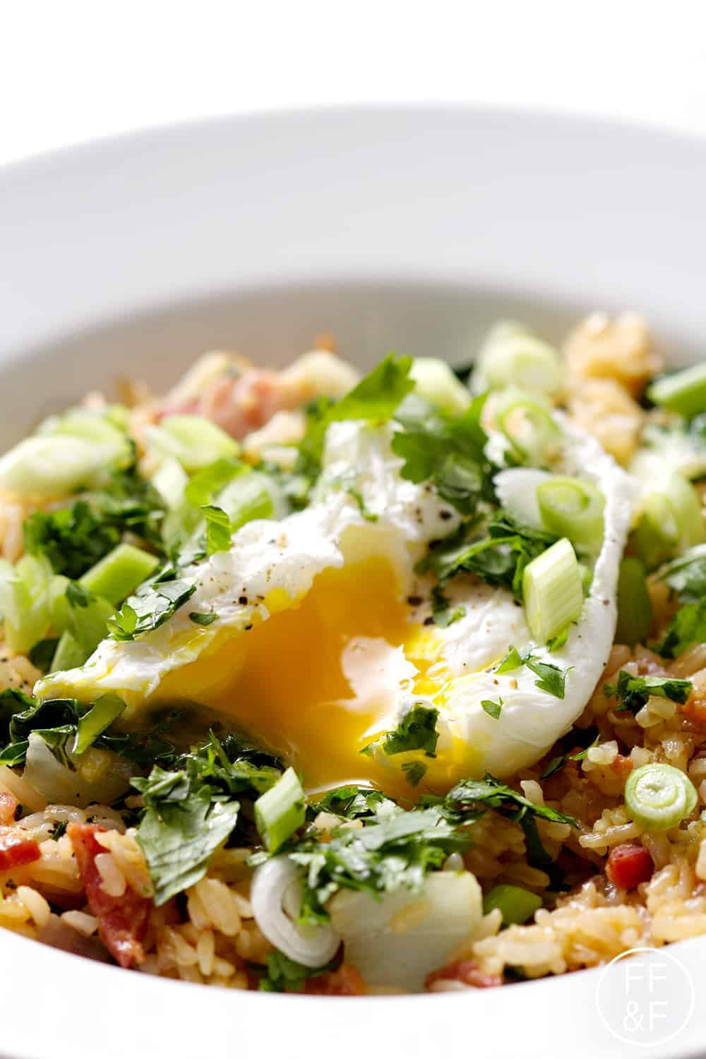 Spicy Bok Choy and Bacon Fried Rice from foodfashionandfun.com