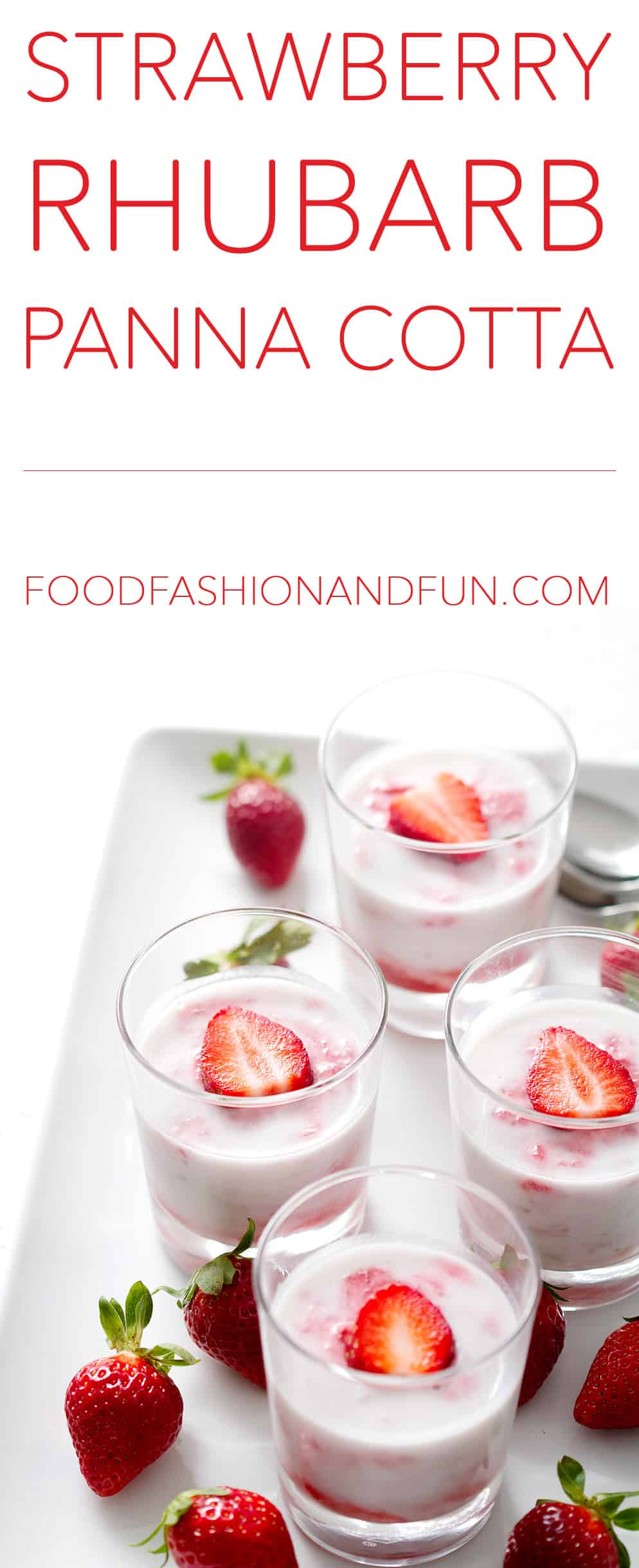 Strawberry Rhubarb Panna Cotta