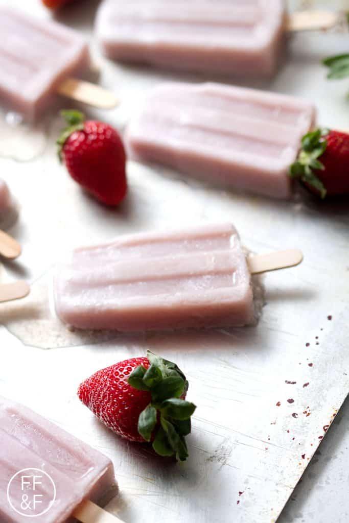 Strawberry Rhubarb Ice Pops