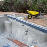 Backyard landscaping update. Swimming Pool Coping and Tile.