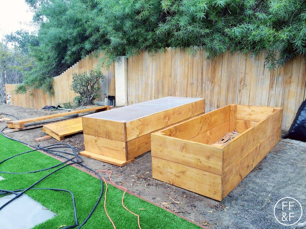 Making raised beds for the backyard. #bethhomeproject