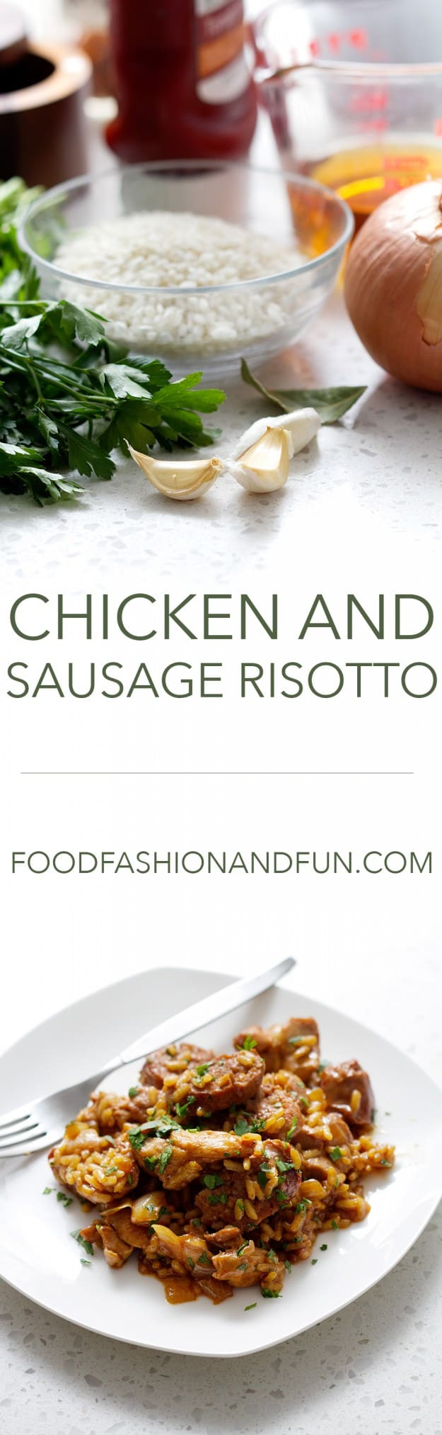 Chicken and Sausage Risotto