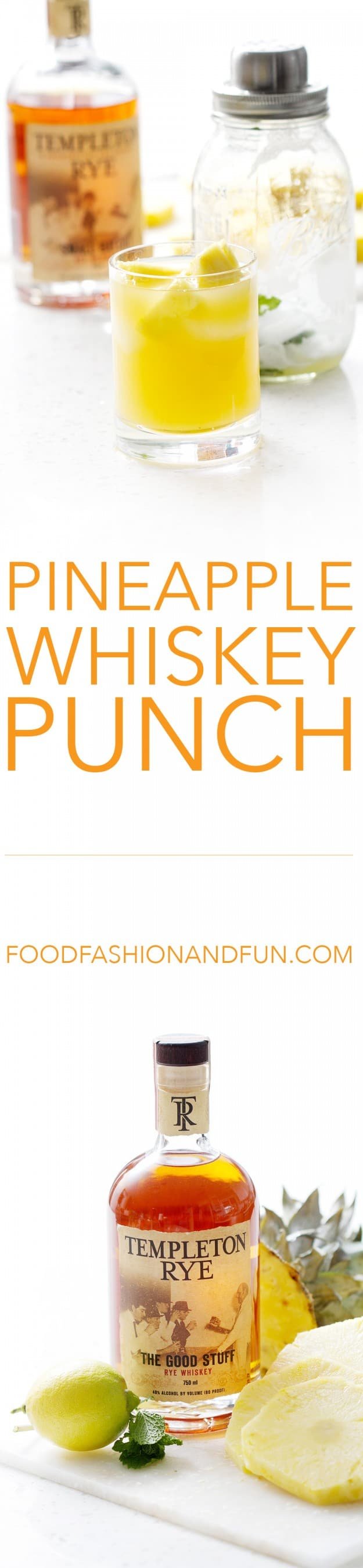 pineapple whiskey punch | food fashion and fun.