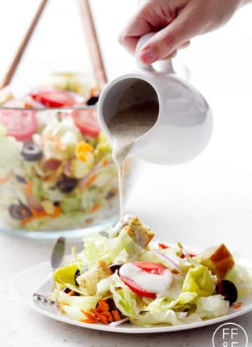 Olive Garden's Famous House Salad Copycat from foodfashionandfun.com