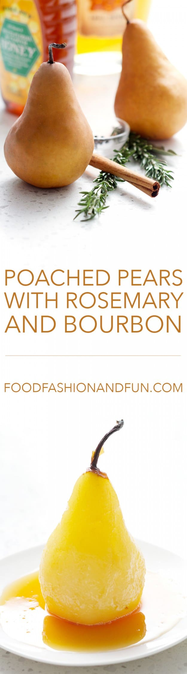 Poached Pears with Rosemary and Bourbon