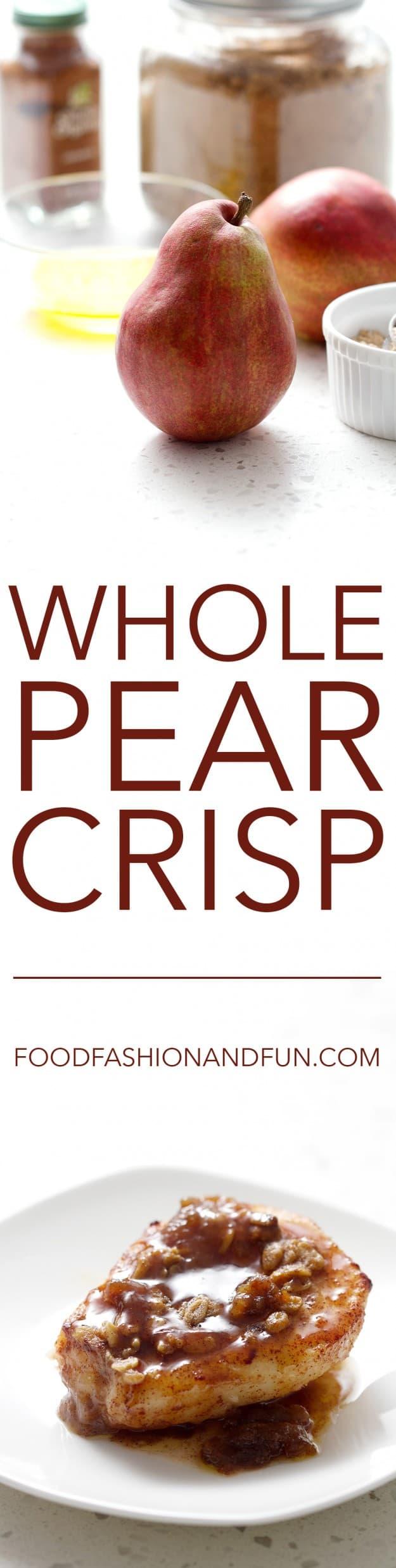 Whole Pear Crisp