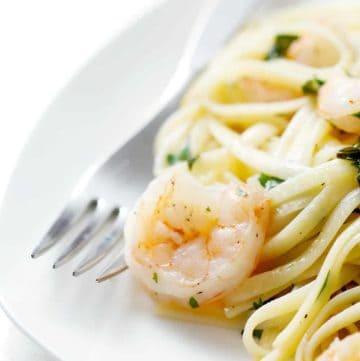 Shrimp Scampi with Fetticini
