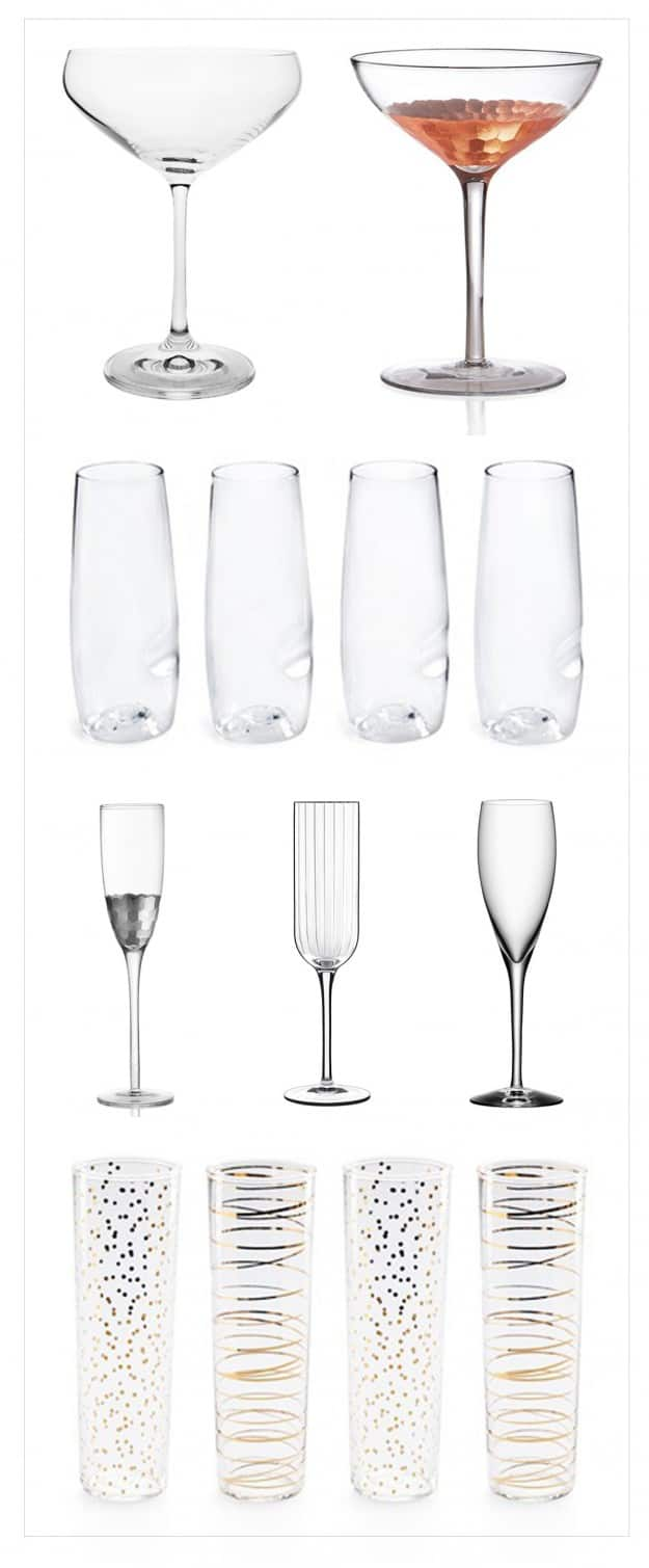 Champagne Glasses to Toast in the New Year