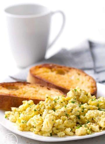 Scrambled Eggs. A no-fail recipe for fluffy scrambled eggs.