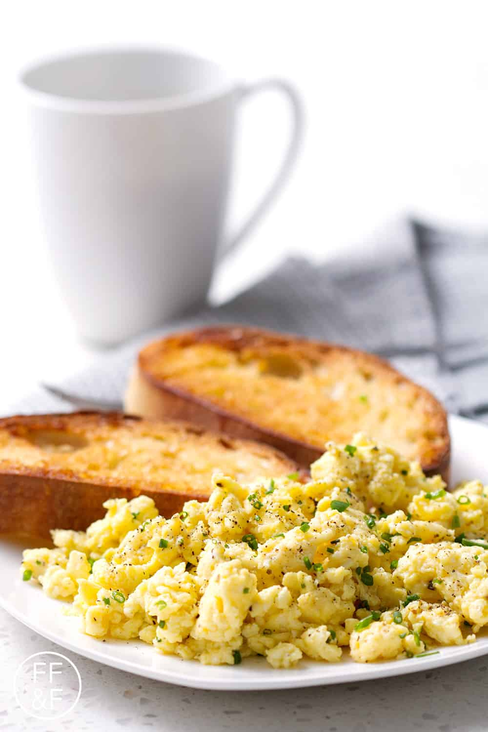 Scrambled Eggs. A no-fail recipe for fluffy scrambled eggs.