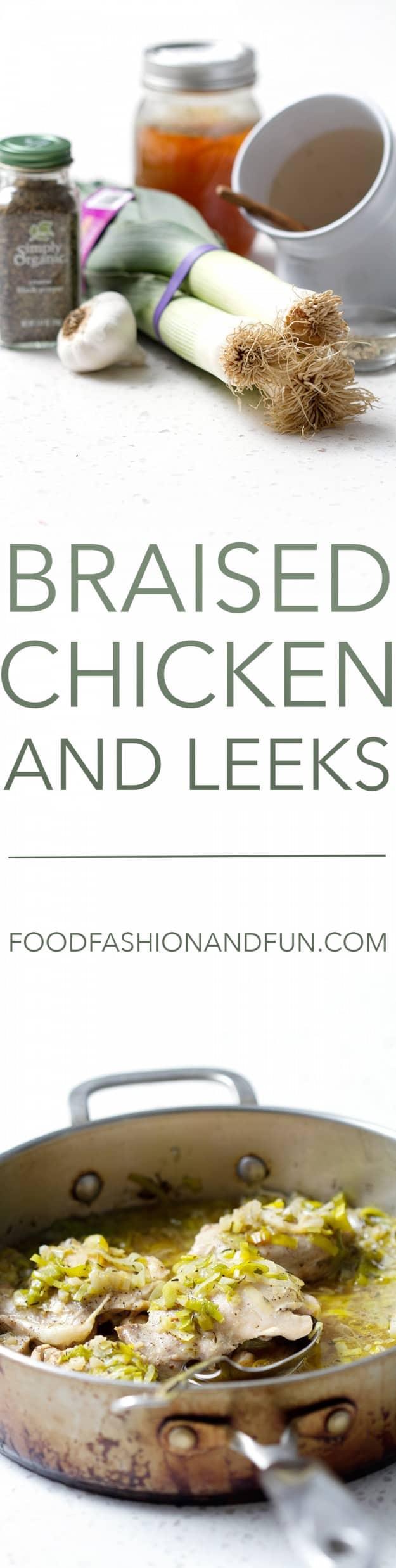 Braised Chicken and Leeks
