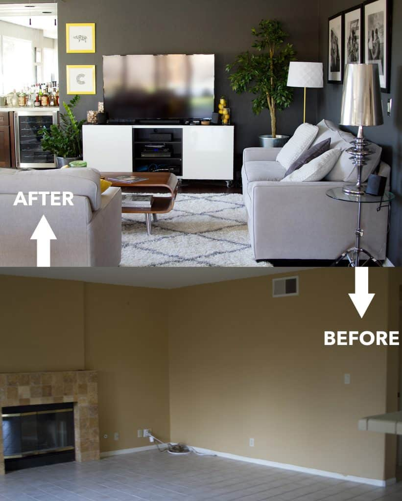 Living room renovation before and after bon aippetit - Before and after the spectacular change of a s living room ...