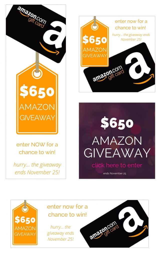 Sample Graphics from a group giveaway. For details on how to host a successful group giveaway go to foodfashionandfun.com.