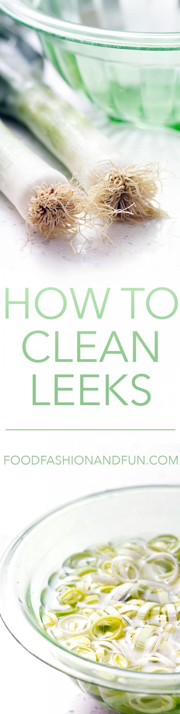How to clean leeks