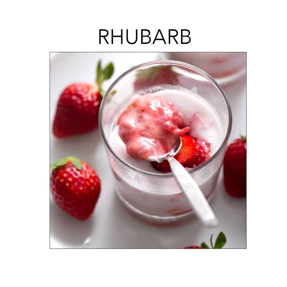 Rhubarb is in season right now. For recipes go to foodfashionandfun.com.