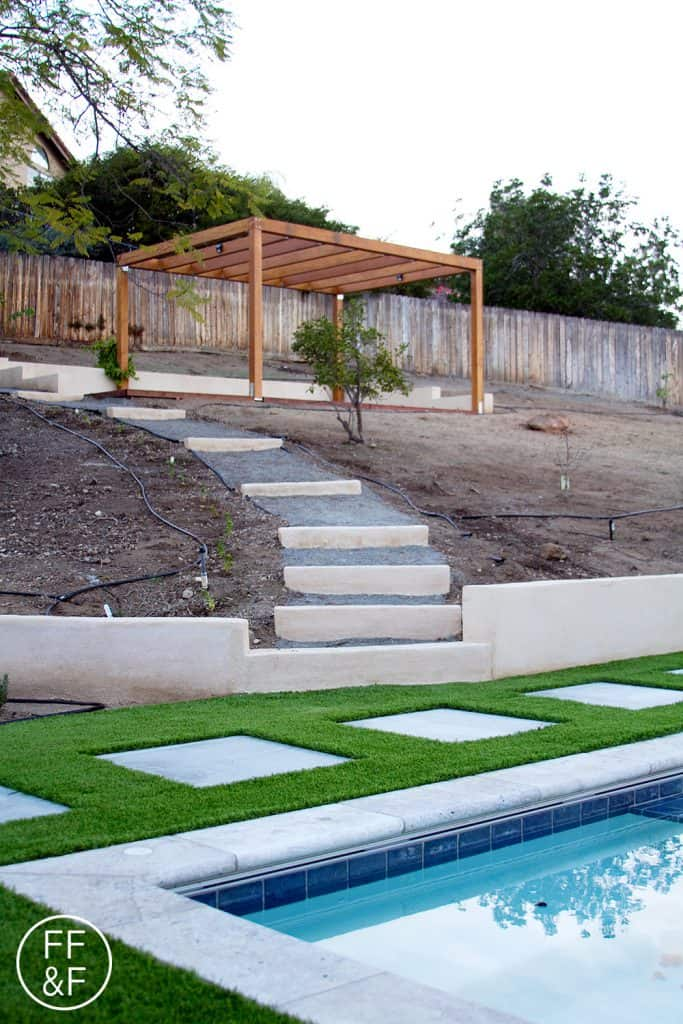 Here's the after photo of my backyard. Click to see the before pics. It was a major transformation.